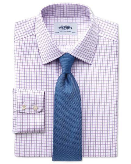 Mid blue silk plain classic tie