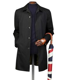 Black cotton raincoat