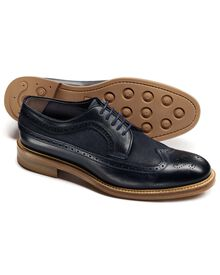 Navy Tavistock wingtip brogue shoes