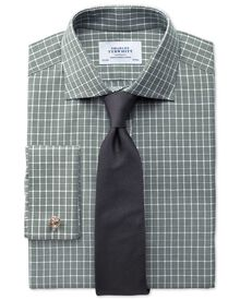 Classic fit Prince of Wales green shirt