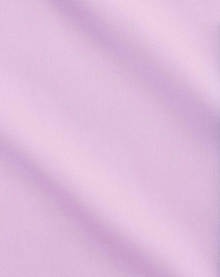 Chemise business casual rose clair coupe droite sans repassage à col boutonné