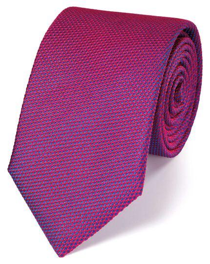 Magenta silk plain classic tie