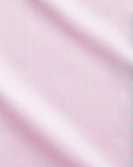 Slim fit semi-spread collar luxury stripe pink shirt