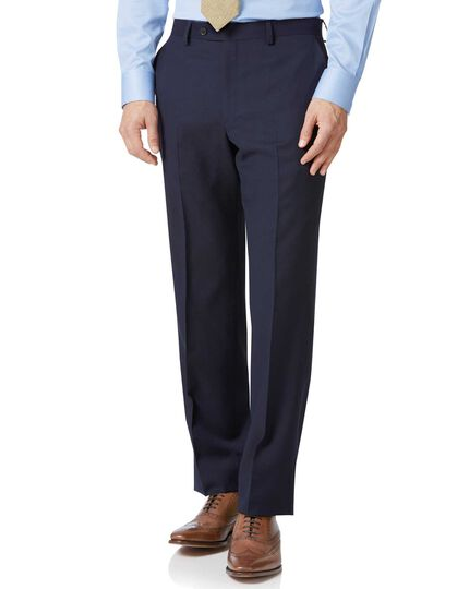 Classic Fit Businessanzug Hose aus Twill in marineblau