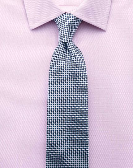 Extra slim fit Egyptian cotton diamond texture pink shirt