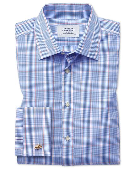 Classic fit Prince of Wales blue shirt