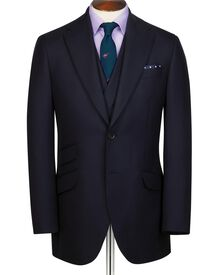 Navy slim fit British Hopsack luxury suit