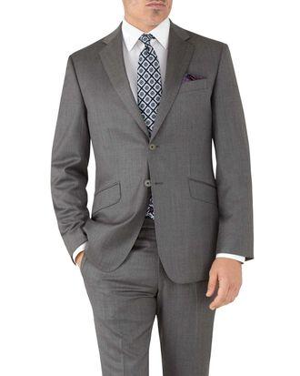 Veste de costume grise en tissu italien slim fit