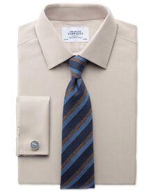 Slim fit Oxford stone shirt
