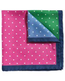 Pochette de costume classique quarts multicolores de couleur vive avec imprimé pois