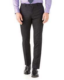 Charcoal slim fit hairline business suit pants