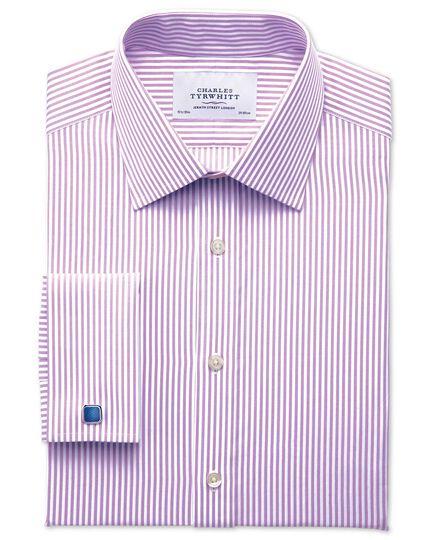 Extra Slim Fit Hemd in Flieder mit Bengal-Streifen