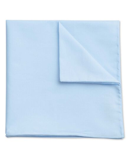 Sky cotton plain classic pocket square