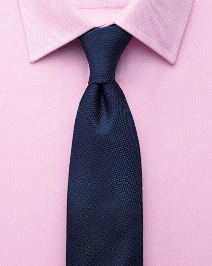 Extra slim fit small herringbone pink shirt