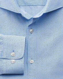 Classic fit printed geometric sky shirt