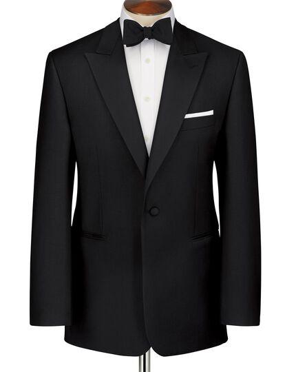 Slim Fit Smoking Sakko mit Spitzrevers in schwarz