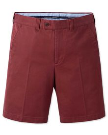 Slim Fit Chino-Shorts in rot