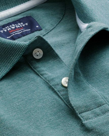 Forest green Oxford polo