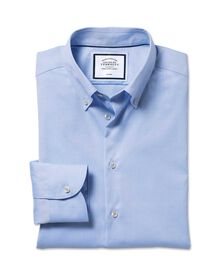 Extra slim fit business casual non iron button-down sky shirt