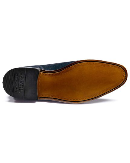 Navy Parker suede toe cap brogue Oxford shoes
