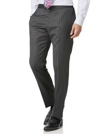 Charcoal slim fit morning suit pants