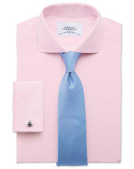 Extra slim fit spread collar non-iron poplin light pink shirt