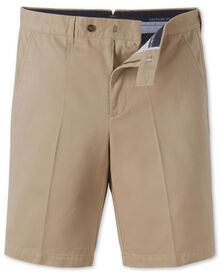 Stone single pleat chino shorts