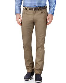 Stone slim fit stretch pique 5 pocket pants