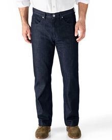 Dark blue classic fit 5 pocket denim jeans