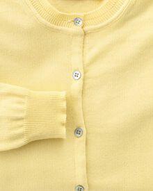 Women's light yellow cotton cashmere cardigan