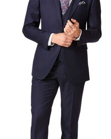 Slim Fit Businessanzug aus Twill in marineblau