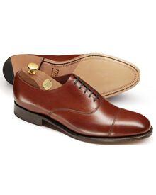 Heathcote Oxford-Schuh mit Zehenkappe aus Kalbsleder in braun