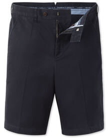 Navy classic fit chino shorts