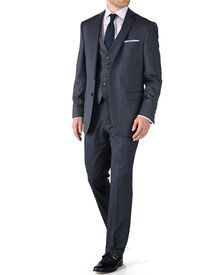 Airforce blue classic fit twill business suit