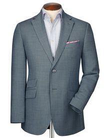 Slim Fit Sakko aus Wolle in grau mit Pfauenaugenmuster