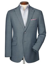 Classic fit grey birdseye wool jacket