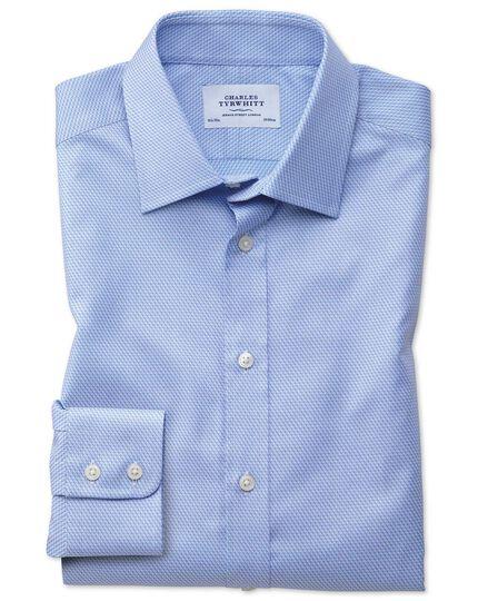 Classic Fit Hemd aus ägyptischer Baumwolle in Himmelblau mit Diamant-Muster