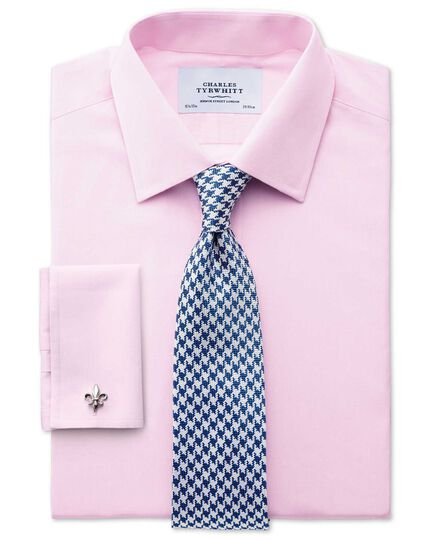 Classic fit end-on-end pink shirt