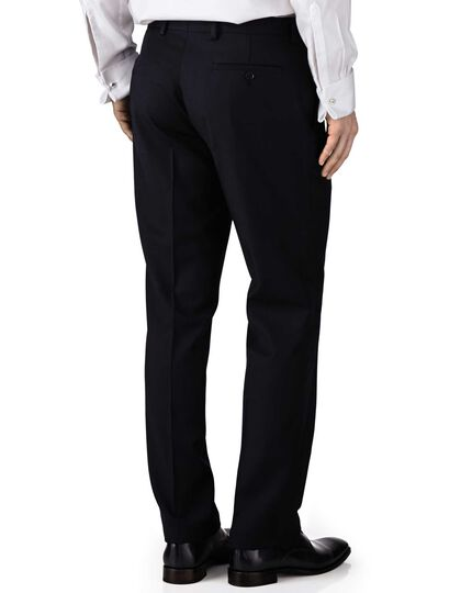 Navy extra slim fit twill business suit trousers