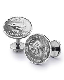 Antique farthing cufflink