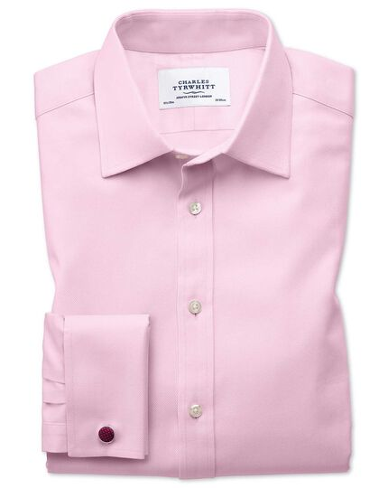 Classic fit Egyptian cotton cavalry twill light pink shirt