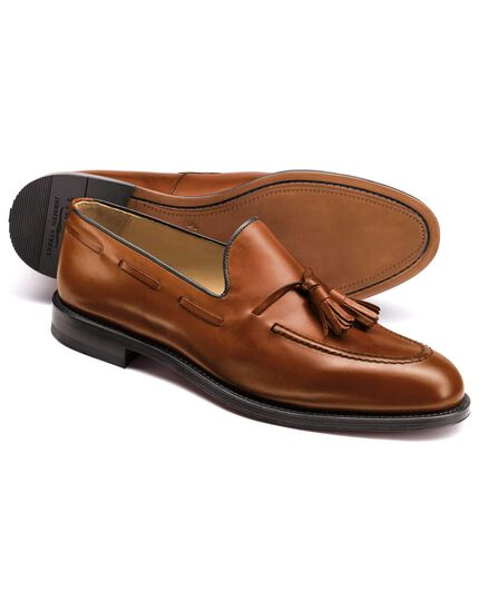 Tan Keybridge tassel loafers