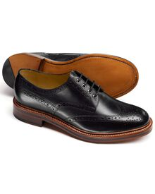 Black Fenton wingtip brogue Derby shoes