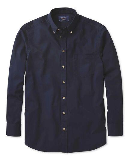 Extra Slim Fit Non Iron Twill Navy Shirt Charles Tyrwhitt