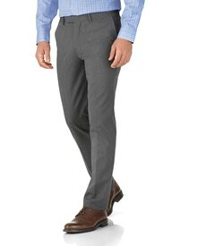 Light grey extra slim fit stretch cavalry twill pants
