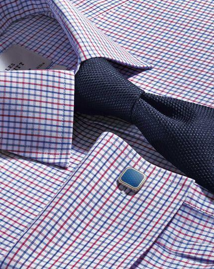 Navy silk classic plain tie