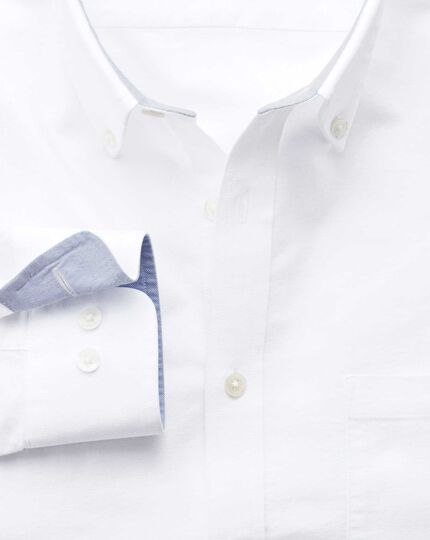 Classic fit white washed Oxford shirt
