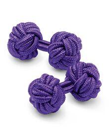 Seidenknoten-Manschettenknöpfe in lila