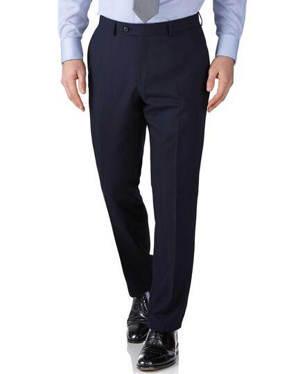 Navy slim fit herringbone business suit pants