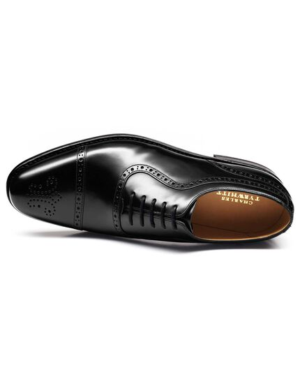 Black Parker toe cap brogue Oxford shoes